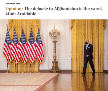   The Afghan debacle was avoidable the Washington Post 81621 argued if only Biden had been willing to commit to an indefinite military occupation   MR Online