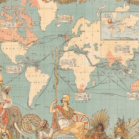Imperial Federation map showing the extent of the British Empire in 1886 by Walter Crane