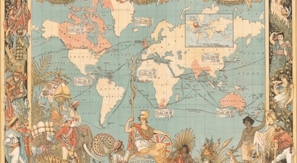   Imperial Federation map showing the extent of the British Empire in 1886 by Walter Crane   MR Online