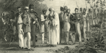   The Capture of the King of Delhi by Captain Hodson 1865 depicting the arrest of the last Mughal emperor Bahadur Shah Zafar during the Indian Rebellion of 1857   MR Online