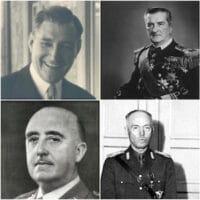 Top: Benito Mussolini, António de Oliveira Salazar, Miklos Horthy and Narendra Modi; Bottom: Adolf Hitler, Francisco Franco, Ion Antonescu and Augusto Pinochet.