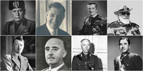 | Top Benito Mussolini António de Oliveira Salazar Miklos Horthy and Narendra Modi Bottom Adolf Hitler Francisco Franco Ion Antonescu and Augusto Pinochet | MR Online