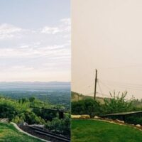 Before and after photo smoke and pollution Salt Lake Valley