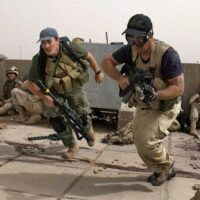 Mercenaries working together with the US Army somewhere in the Middle East. Photo courtesy of AP.