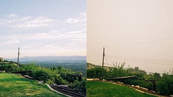   Before and after photo smoke and pollution Salt Lake Valley   MR Online