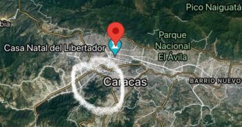   The Cota 905 district circled in white is in central Caracas oskarjsf Twitter   MR Online