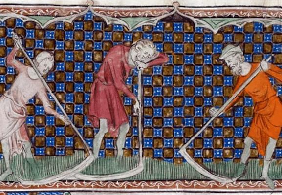 | Harvesting grain in the 1400s | MR Online
