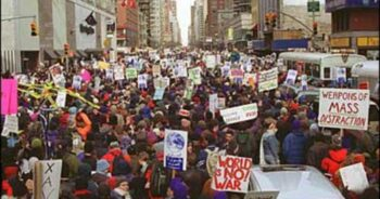 | Protests against the Iraq War in 2003 marked the high point of the 21st century antiwar movement Source cbsnewscom | MR Online