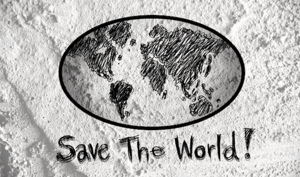 | Love Globe Earth Idea On Cement Wall Free Stock | MR Online