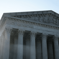 The Supreme Court released a ruling blocking President Joe Biden's latest coronavirus pandemic-related eviction moratorium in a 6-3 decision on Aug. 26, 2021. Photo: Anna Moneymaker/Getty Images