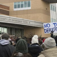 Protest against the deportation of immigrants