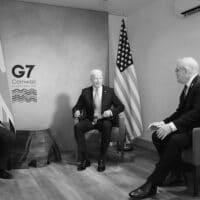 """US President Joe Biden, UK PM Boris Johnson, and Australia's high commissioner to the UK George Brandis, had met during the G7 meeting in Cornwall in June. The AUKUS which was announced on September 15, was deemed """"a forever partnership"""" by Brandis."""