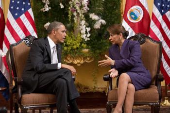 | US President Barack Obama with Costa Rica President Laura Chinchilla in 2013 | MR Online