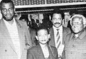 | Marc Wadsworth at a Norbury rally he organised in 1993 with from left Neville and Doreen Lawrence and Archbishop Desmond Tutu | MR Online