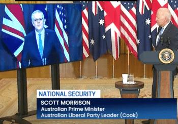 | Australian Prime Minister Scott Morrison the fella down under on video with US President Joe Biden during Sept 15 announcement of the AUKUS pact | MR Online