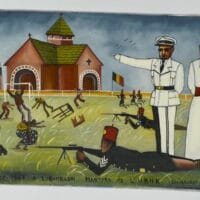 Tshibumba Kanda-Matulu (DRC), The Martyrs of the Union Minière du Haut Katanga at the Stadium Formerly Called 'Albert I', now 'Mobutu', Kenia Township, Lubumbashi, 1975.