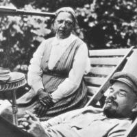Krupskaya and Lenin