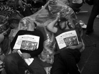 | Occupiers demonstrating with The Occupied Wall Street Journal | MR Online