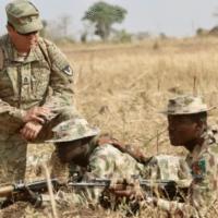 U.S. Army trainers drill Nigerian soldiers in Jaji between Jan. 15 and Feb. 22, 2018