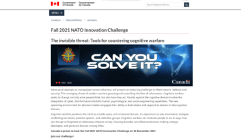 | NATOs Fall 2021 Innovation Challenge is hosted by Canada | MR Online