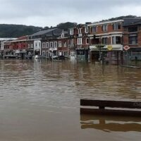 Flooding in Tilff, Belgium, July 2021 (Photo: Regine Fabri; licensed under Creative Commons Attribution-ShareAlike 4.0)