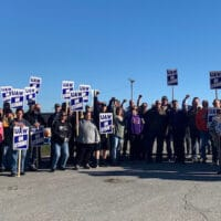 Members of UAW Local 74 at John Deere's Ottumwa Works are among 10,000 workers on strike at the farm equipment maker.