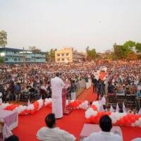 Chief Minister Pinarayi Vijayan addresses an election campaign rally in Kerala. Photo: Pinarayi Vijayan/Facebook