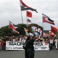 Māori protesters on Waitangi Day, 6th February 2006.