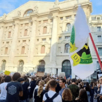 Youth-led protest at climate change meeting in Milan, Italy, Oct. 1.