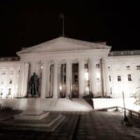 Treasury Department headquarters.