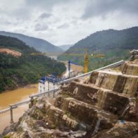 Construction site of the Nam Theun 1 hydropower project in Laos. New research has shed light on the various environmental and social risks posed by Chinese-funded overseas development projects
