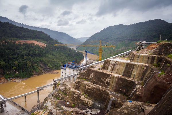   Construction site of the Nam Theun 1 hydropower project in Laos New research has shed light on the various environmental and social risks posed by Chinesefunded overseas development projects   MR Online